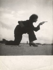 Gerda Taro, Republican Militiawoman Training on the Beach, outside Barcelona, August 1936. Inkjet Print Collection of ICP ©ICP