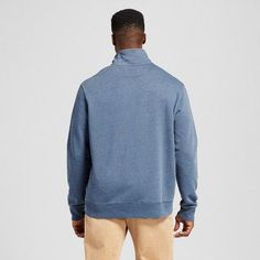 Men's Big & Tall Quarter Zip Fleece Pullover Sweater - Merona Navy (Blue) 2XB, Size: 2X Big