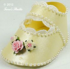 Taras Studio - Baby Shoe, baby girl paper shoe