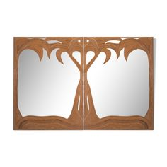 Miroir mural rond 40 cm avec Armoire Bois Nature Art Harnais Beige Miroir de maquillage