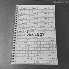 2017 Savings Tracker -- as you save throughout the year, color in a brick. Your goal is to color in all of the bricks by the end of 2017! #bulletjournal