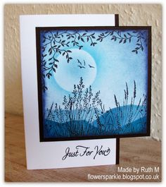 Handmade Card Surreal Moonlight By Labullard Masking