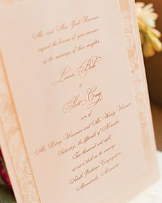 Invitations with Engraved Script