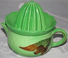 Carlton Ware, Kitchen Collection, Retro Vintage, Juicers, Pottery, Tableware, Glass, Green, China