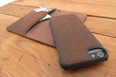Sport Leather Wallet Case / Your iPhone deserves a versatile case and this unique leather wallet is just the ticket. The SPORT features a magnetically detachable inner hard case that gives you maximum flexibility. http://thegadgetflow.com/portfolio/sport-leather-wallet-case/
