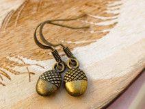 Eicheln Ohrringe Bronze von CLARKIkind