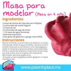 Con esta receta saldrás del apuro si no encuentras como... Diy For Kids, Crafts For Kids, Fun Crafts, Diy And Crafts, Glue Art, Kids Class, Pasta Flexible, Kids Corner, Cold Porcelain