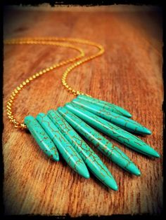 sweetBella turquoise spike necklace
