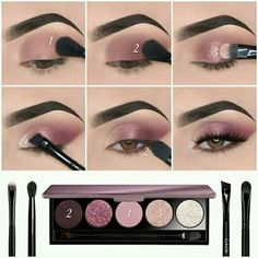 Eye Makeup Steps, Eye Makeup Art, Simple Eye Makeup, Natural Eye Makeup, Smokey Eye Makeup, Skin Makeup, Eyeshadow Makeup, Makeup Tips, Eyeshadow Palette
