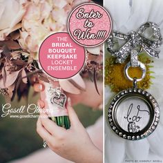 LAST WEEKEND To Enter to Win a Bridal Bouquet Keepsake Locket with Charms from Gosell Charms on www.BrendasWeddingBlog.com