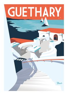 Marcel Biarritz is passionate about travelling and art. He crosses time and borders while preserving their soul and their share of the dream. Marcel, Tourism Poster, Poster City, Portugal, Visit France, Surfer, Travel Illustration, Vintage Travel Posters, Retro Art