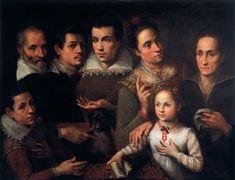 Lavinia Fontana (Italian, 1552-1614) ~ Family Portrait ~1598-1600 ~ Oil on canvas ~ Pinacoteca di Brera, Milan
