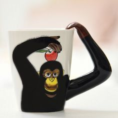MACK Cute Cartoon 3D 400ml Ceramic Personality Mug Milk Cup Office Coffee Tumbler Breakfast Mugs Classic Cafe Cups