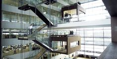 Suspended Meeting Boxes- Nykredit's head office by Schmidt Hammer Lassen Architects
