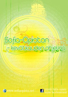 Made for the Sofia-opisto, cover of brochure