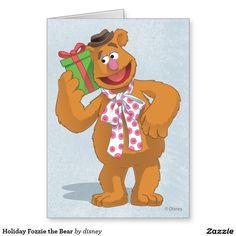The muppets - Día de fiesta Fozzie el oso Tarjeta De Felicitación. Regalos, Gifts. Producto disponible en tienda Zazzle. Product available in Zazzle store. Link to product: http://www.zazzle.com/dia_de_fiesta_fozzie_el_oso_tarjeta_de_felicitacion-137997912269118496?lang=es&design.areas=[card_5x7_outside_print_front]&CMPN=shareicon&social=true&rf=238167879144476949 #tarjeta #greeting #card