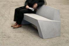 Bilbao concrete bench