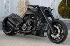 Fully Customized Blacked Out Harley V-Rod. This is EXACTLY how I want it! My dream bike.
