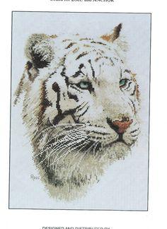 Cross -stitch design by Rico - White Tiger.