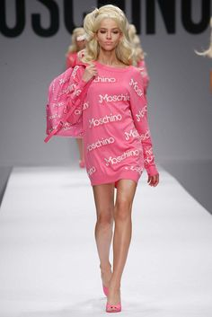 5. Pop Icons: Grab your barbies, doll- Pop culture is taking over the SS15 runways! Pop icon references are the next big thing, as seen here at Moschino. Jeremy Scott has employed household names, such as Barbie, McDonald's, etc. into fashion and it is haute!