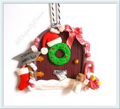 Hand Made Polymer Clay Elf Door  Handmade by DesignsByDenisa