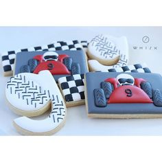 Christmas cookies are coming (promise!) but I had to share this Go Kart collection I did for a 9th birthday. 🏁🏁🏁 #gokart #birthdaycookies #sugarcookies #shopthewhisk