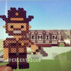 Rick Grimes - The Walking Dead perler beads by perlertricks