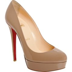 Christian Louboutin Bianca. The perfect nude heel. Color, height, shape, everything.