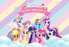 Festa Do My Little Pony, My Little Pony Birthday Party, Rainbow Dash Party, Rainbow Cloud, My Little Pony Poster, My Little Pony Stickers, Monkey Wallpaper, My Little Pony Wallpaper, Birthday Cartoon