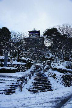 Maruoka Castle in the snow, Maruoka, Fukui, Japan
