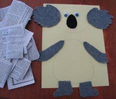 Koala Bear Craft and Template