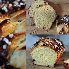 Brioche au levain aux pépites de chocolat et sucre perlé - La popotte de Manue
