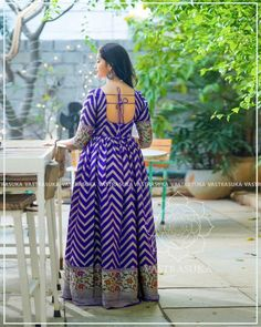 These Ethnic Long Dresses Will Give The Most Elegant Looks!! • Keep Me Stylish Indian Long Dress, Cotton Dress Indian, Indian Gowns Dresses, Indian Fashion Dresses, Dress Indian Style, Indian Outfits, Long Gown Dress, Long Dresses, Long Frock