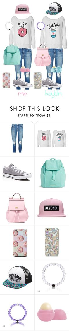 """""""best friends"""" by hail-queen-hailey ❤ liked on Polyvore featuring J Brand, Converse, Vera Bradley, Dolce&Gabbana, Vans, Eos, women's clothing, women, female and woman"""