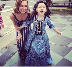 Cute!!! Little Christine I want her dress. Isn't she too young to watch that
