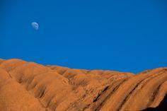 Moon over Uluru, Australia