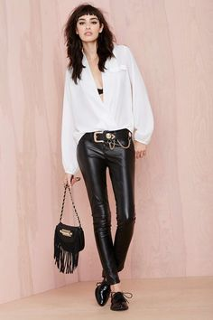 Bing Wrap Blouse - White | Shop Clothes at Nasty Gal #streetstyle