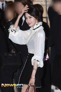 Welcome to FY! GIRLS GENERATION, the best source for photography, media, news and all things related to the girl group Girls' Generation. Yoona, Snsd, 1 Girl, Korean Celebrities, Girls Generation, Kpop Girls, Girl Group, Ruffle Blouse, Clothes