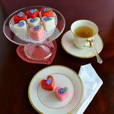 Receta de petits fours para San Valentín