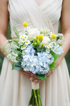 blue HYDRANGEA - Atlanta Wedding from Paperlily Photography