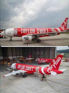 Here is Taylor's plane for the Red Tour to other countries! Taylor Swift 2014, Red Taylor, Swift 3, Red Tour, Taylors, Singer, Planes, Queens, Country Quotes