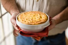 Slimmed down cheddar and corn spoonbread