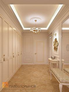 Фото дизайн холла из проекта «Дизайн интерьера четырехкомнатной квартиры в классическом стиле, 204 кв.м.»
