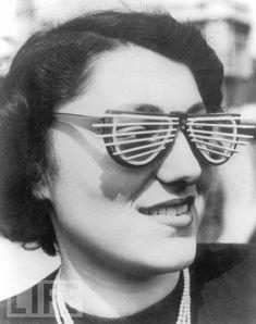 Craziest Invention Of The Past~Venetian Blind Sun Glasses,1950~LIFE Magazine~♛