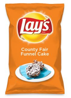 Wouldn't County Fair Funnel Cake be yummy as a chip? Lay's Do Us A Flavor is back, and the search is on for the yummiest flavor idea. Create a flavor, choose a chip and you could win $1 million! https://www.dousaflavor.com See Rules.