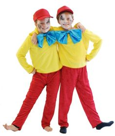 BUDGET Alice in Wonderland TWEEDLE DEE or TWEEDLE DUM Childrens Fancy Dress costume Perfect for World Book day or Dressing up CHILD SIZE AGE 7-8