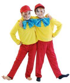 Alice In Wonderland Tweedle Dee Or Tweedle Dum Yellow & Red All Ages Book Day Costumes, Book Week Costume, Fancy Costumes, Disney Costumes, Disney Outfits, Costume Ideas, Halloween Costumes, Halloween 2016, Alice In Wonderland Characters