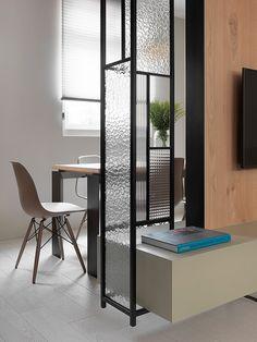 作品欣賞-彰化 吳公館::子境空間設計:: Divider Design, Partition Design, Glass Partition, Partition Walls, Apartment Interior, Kitchen Interior, Interior And Exterior, Contemporary Interior, Interior Design