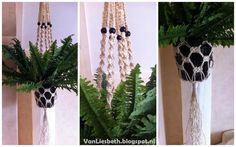VanLiesbeth: Macramé plantenhanger maken.