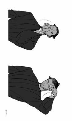 Erik Killmonger & T'challa || Black Panther || Cr: 생물 Marvel Funny, Marvel Dc, Marvel Comics, Erik Killmonger, Waka Waka, Cherik, Black Anime Characters, Stucky, Super Heros